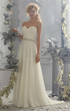 custom made vestidos de novia 2015 vintage wedding dress with detachable straps beading chiffon long backless bride dress 2015