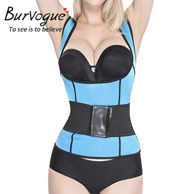 1d119d92bd Burvogue Hot Shapers Neoprene Sauna Sweat Vest Waist Trainer Cincher Women  Slim Trimmer Shapers Workout Thermo Push Up Trainer