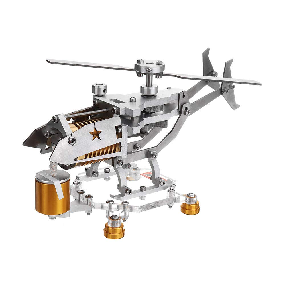 DIY Assembly Helicopter Design Stirling Engine Generator Physics Experiment Science Learning Educational Toys Gift for ChildrenDIY Assembly Helicopter Design Stirling Engine Generator Physics Experiment Science Learning Educational Toys Gift for Children