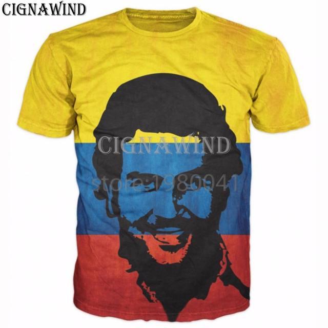 Hot American TV dramas Narcos t shirt men women t-shirts PABLO ESCOBAR print 3d t shirts hip hop tshirt streetwear Unisex tops