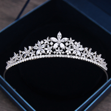 Jonnafe  Luxury Zirconia Star Tiara Bridal Crown Hair Accessories Wedding Prom Hair Jewelry Tiaras Women Headwear G356