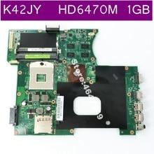 K42JY HD6470M 1 GB de memoria de vídeo placa base REV 4,1 para ASUS X42J A42J K42J K42JY K42JR placa base de computadora portátil prueba 100% prueba