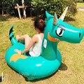 Blau Riesigen Aufblasbaren dinosaurier Pool Float Neueste Rosa Fahrt Auf Einhorn Schwimmen Ring Für Erwachsene Sommer Wasser Urlaub Partei spielzeug-in Schwimmringe aus Sport und Unterhaltung bei