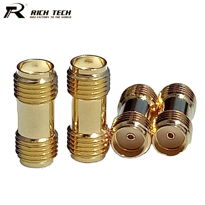 10pcs Gold Plated SMA Female to SMA Female Straight Jack Dual SMA Connector for Two Way Radio SMA Antenna Adapter Wholesale 1pcs sma connector for motorola gp88s gp88 gp328 gp340 etc two way radio walkie talkie test antenna connector free shipping