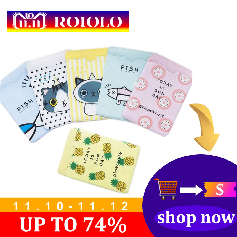Cartoon Cat PVC Card Holder Credit Student Cute ID Cover Students School Bus Business Bancaire Card Holder Protector animal pvc card holder credit student cute women id business bancaire cards bag wallet passport card holder protector