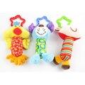 New baby toys rattle my first tinkle trio carrinho de sino de mão brinquedo de pelúcia multifuncional móvel presentes wj148