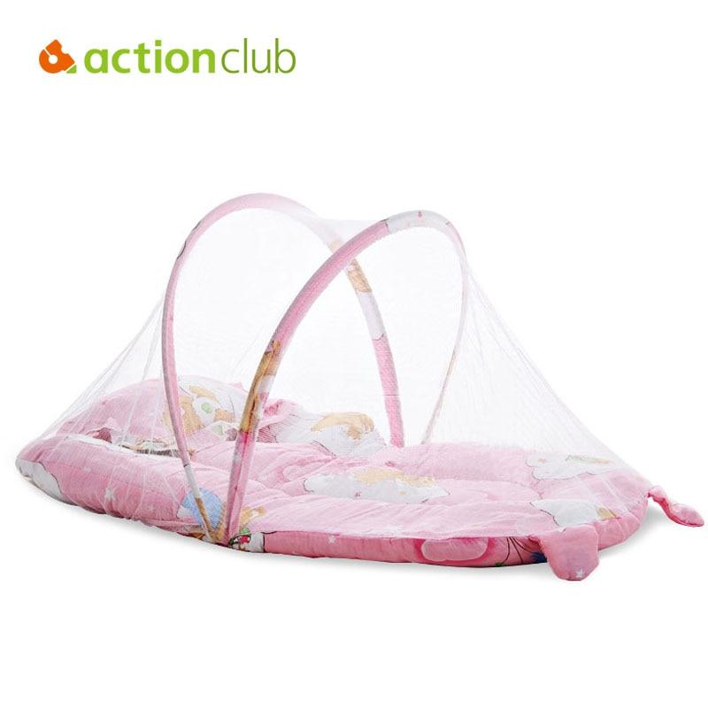 Cartoon Baby Crib Cunas Baby Bed 0 1 Year Infant Portable Folding ...