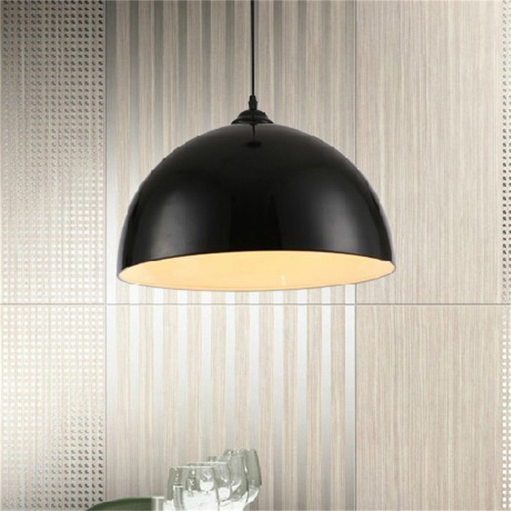 ICOCO Retro Style Black White Red Metal Ceiling Light Lamp Shade Lampshade mini camera style white light plastic keychain red black silver 3 x ag13