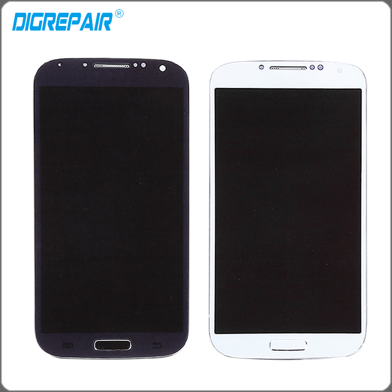 White Blue Black For Samsung Galaxy S4 i9505 LCD Display Touch Screen Digitizer with Bezel Frame