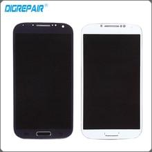 Белого и синего цвета черный для Samsung Galaxy S4 i9505 ЖК-дисплей Дисплей Сенсорный экран планшета с рамкой рама полный сборки Бесплатная доставка