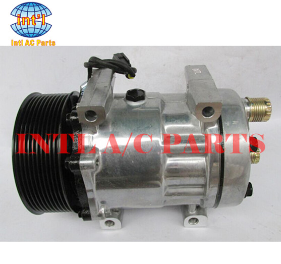 US $75 0 |Sanden SD7H15 for New Holland T7030 tractor / for Ford Finis KH  Cyl Head DM Mount AC Compressor 6020 6132 8217 87300121 87709773-in