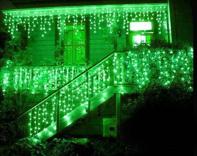 led string curtain light 31m 150 led waterfall light christmas decoration dripping icicle lights