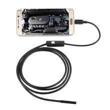 цена на 1M/2M/1.5M/3.5M 7mm Lens HD 720P USB Endoscope Waterproof 6 LEDs Inspection Pipe Endoscope Camera Borescope For Android Phone PC