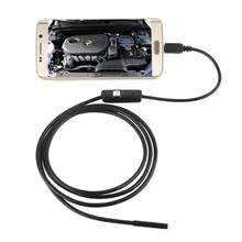 1M/1.5M/2M/3.5M 7mm Lens HD 480P USB OTG Snake Endoscope Waterproof 6 LEDs Inspection Pipe Camera Borescope For Android Phone PC(China)