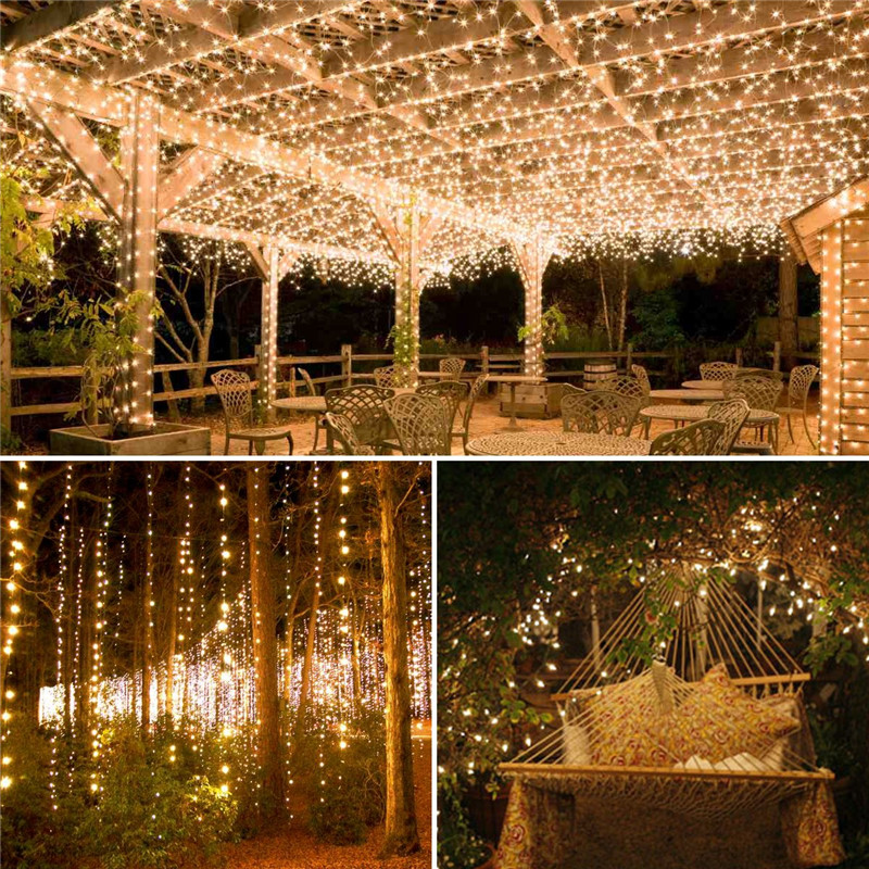 lowest price 12 22 32m LED Outdoor Solar Lamp 100 200 LEDs String Lights Fairy Holiday Christmas Party Garland Solar Garden Waterproof Lights
