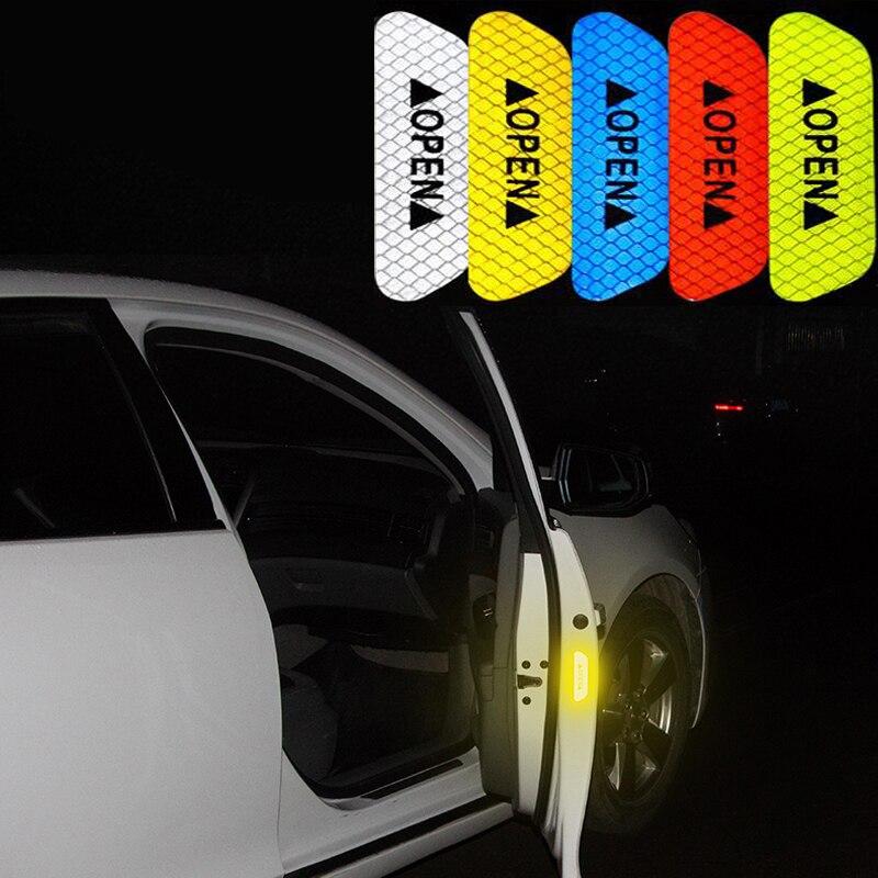 Carro fluorescente reflexivo tiras de aviso adesivos para toyota corolla rav4 camry prado avensis yaris hilux prius land cruiser