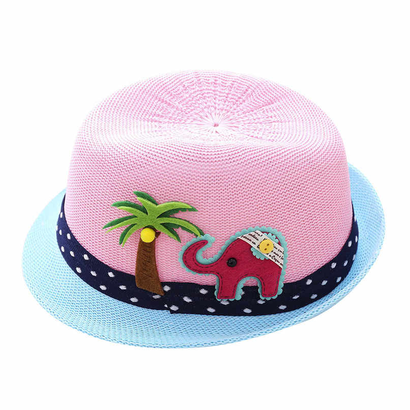 267229552 Free Size Summer Baby Hat Cap Children Breathable Straw Hats Sunhat Cute  Kids Boys Girls Elephant Hats Show Cap M8Y28#FN