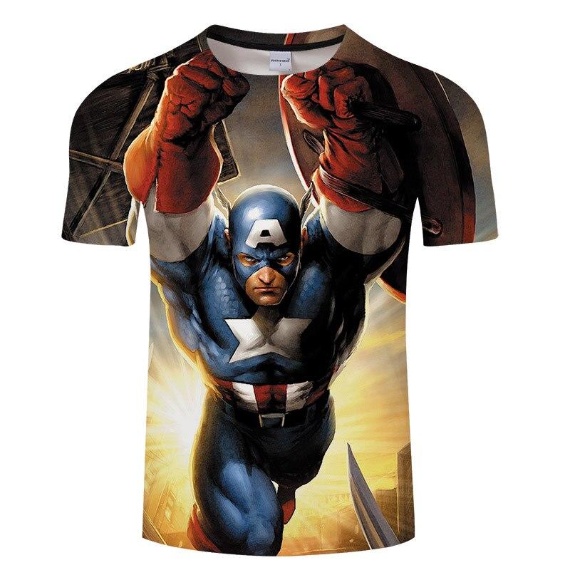 Summer 2018 casual 3d printed men t shirt, marvel superman batman hero Tshirt, hip hop short-sleeved T-shirt Tops Tee