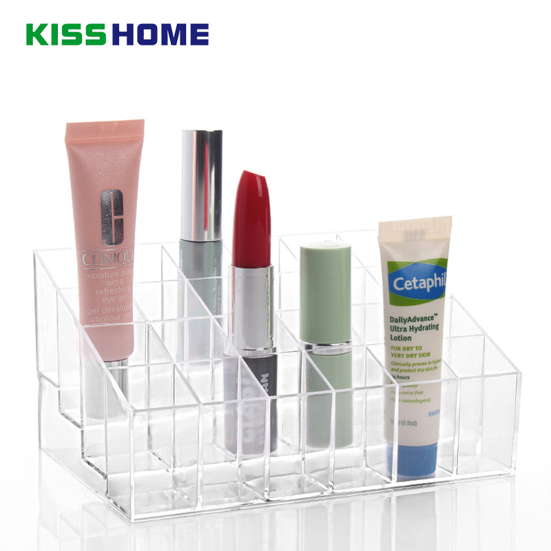 14.3*9.5*7.3cm Clear Acrylic Cosmetic Organizer Box Makeup Storage Drawer Desk Bathroom Makeup Brush Lipstick Table Holder