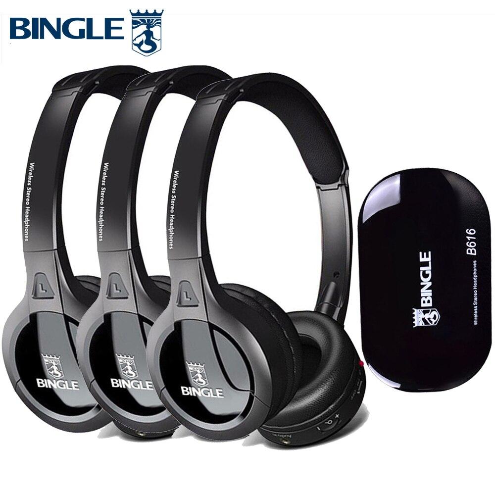 3 Pack 2.4G sans fil tête de jeu téléphones stéréo Audio Casque Gamer Casque Casque de jeu casques pour PS4, Xbox, PC, TV, Disco silencieux