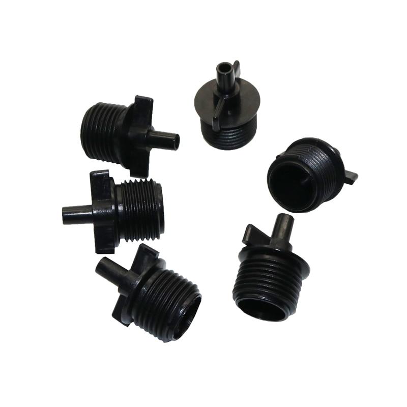 6pcs 1/2 Inch Adapter Connector Fountain Connector Garden Sprinkler Sprinkler System Accessories Gardening Tools Black