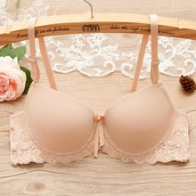 Women Lovely Bra Backless Brassiere White Push Up Bra Young Girls Tubes Sexy lace bras brallete Backless Women invisible bra