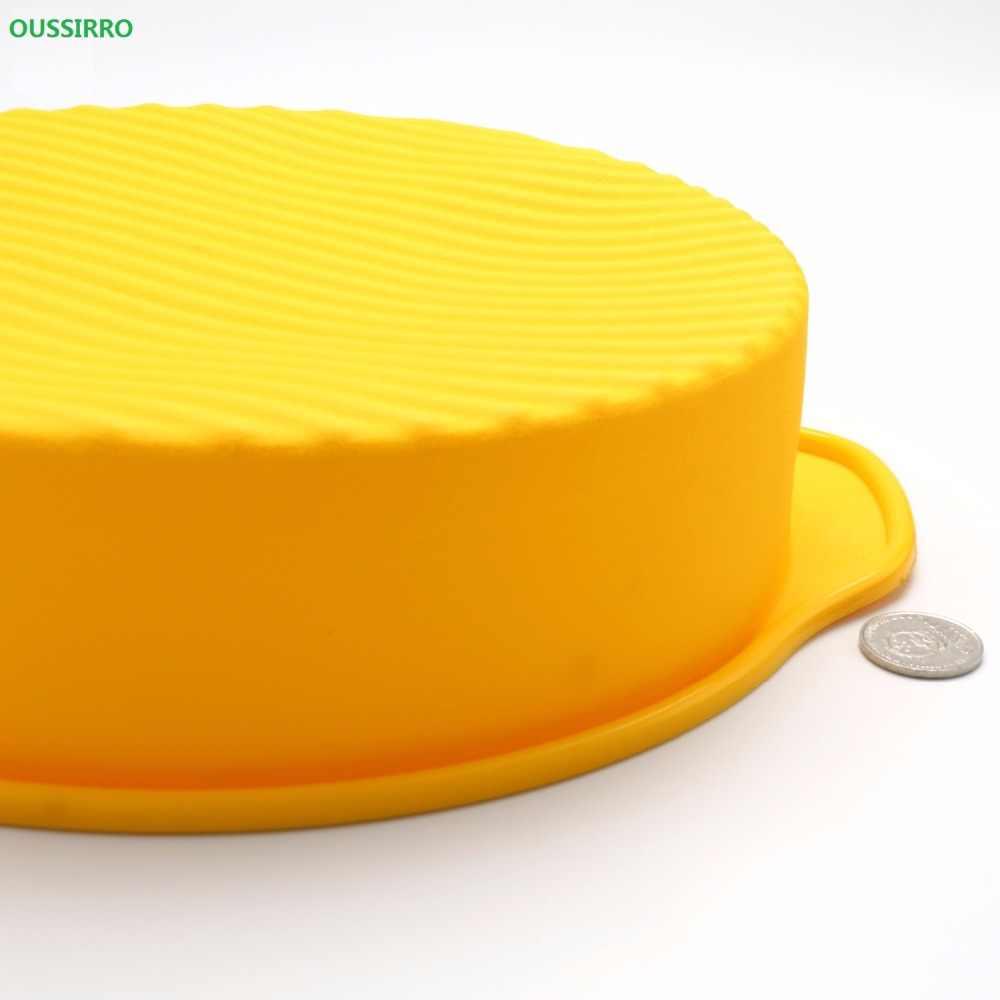 OUSSIRRO 10 дюймов 28,5*24,5*6,2 см 175 г DlY круглой формы 3D силиконовые формы для торта жаропрочные Инструменты для выпечки
