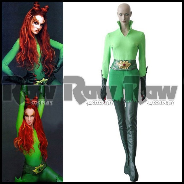 Batman and Robin moive character Poison Ivy Chirstmas cosplay green jumpsuit women sexy halloween costumes set  sc 1 st  AliExpress.com & Batman and Robin moive character Poison Ivy Chirstmas cosplay green ...