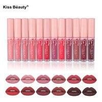 Brand 12Pcs Lot Matte Liquid Lipstick Makeup Lip Kit Matte Lip Gloss Velvet Lips Tint Long
