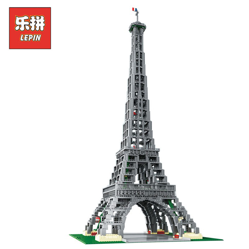 Lepin 17002 3478pcs City Street Figures The Paris Eiffel Tower Sets Model Building Kits Blocks Bricks Kids Toys Compatible 10181 aiboully city 7014 7017 model the louvre in paris rome fontana di trevi building blocks sets bricks toys compatible with gift