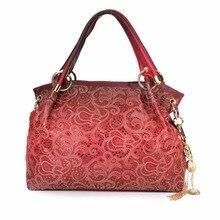 Marke Designer Blumen Aushöhlen Schultertasche Mode Quaste Elegante Frauen Damen Leder Handtasche Blume Geprägt Einkaufstasche