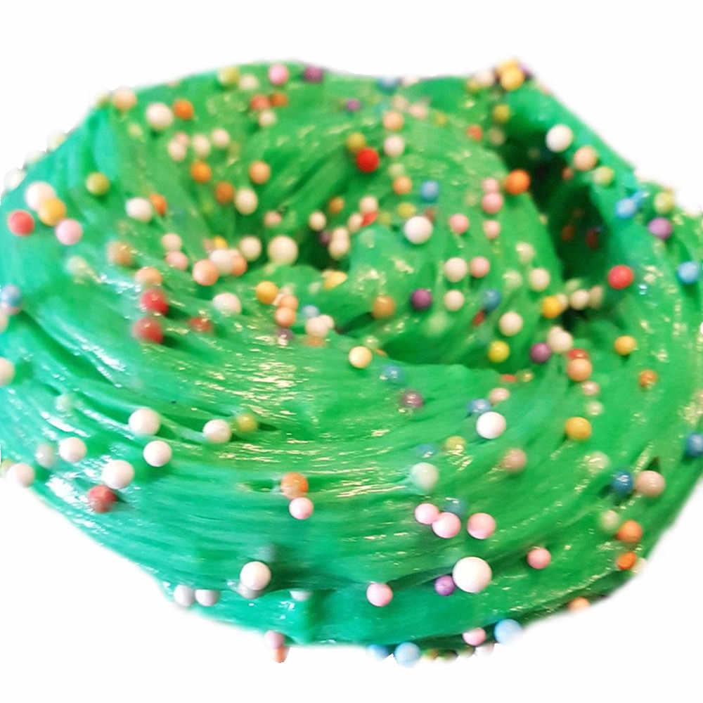 ใหม่ผ้าฝ้ายโคลนบอล Fluffy Slime กล่อง Big Poke Ramen ล้าง DIY พลาสติก Decompression Venting โคลนกาวสำหรับ Slime toy ขายส่ง