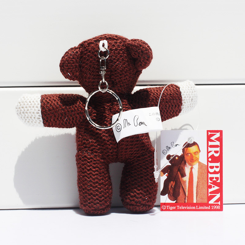 10pcs/lot Mr. Bean Teddybear Plush Toy Doll with Ring 4 10cm Soft Stuffed Doll Free Shipping