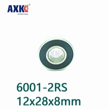 купить Axk 6001-2rs 6001 2rs 6001 Rs 6001 Hybrid Ceramic Deep Groove Ball Bearing 12x28x8mm по цене 392.74 рублей