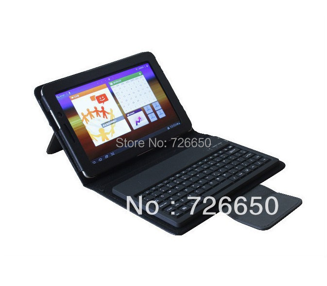 Bluetooth Keyboard luxury leather case For Samsung Galaxy Tab 2 7 P3100 P3110 P3113 For Galaxy Tab P6200 P6210