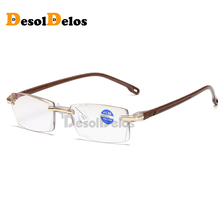 Ultralight Rimless Reading Glasses Women Men Clear Lens Anti-Blu-Ray Computer Presbyopia Eyewear Diopter