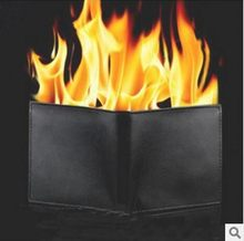 2018 Magic trick flame fire wallet slim short high quality wallet men brand wallets leather purse magica carteira masculina 40(China)