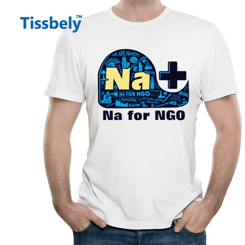Tissbely Na for NGO Casual Men T Shirts Colorful Graphic Tees Whale Plus Printed White Short Tops We Are NA Add EN ...