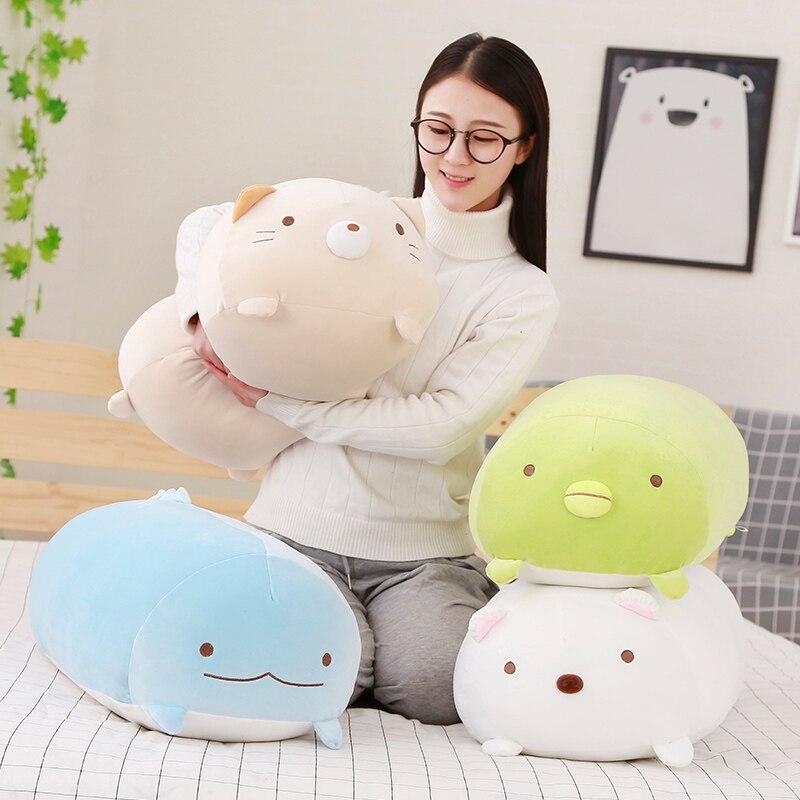 Géant taille haute qualité Animation japonaise Sumikko Gurashi Super doux jouets en peluche san-x coin Bio dessin animé mignon bébé oreiller