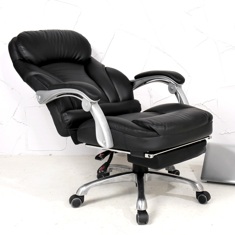Comfortable Lifting Computer Chair 170 Degrees Lying Home Office Chair  Luxury PU Material Boss Chair Seat