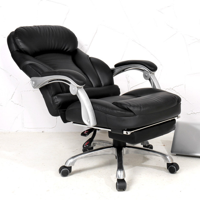 comfortable home office chair colored dining room chairs lifting computer 170 degrees lying luxury pu material boss seat furniture