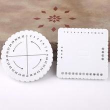 1 шт. 10 см бисер шнур диск Круглый диск оплетка пластины DIY Плетеный EVA белый круговой вязальный станок инструмент