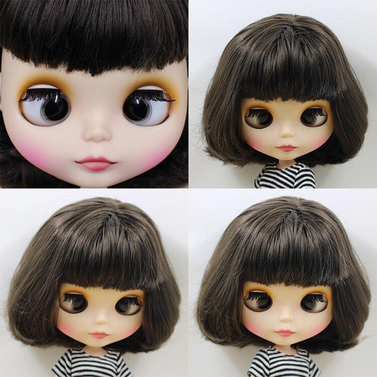 Фабрика Блит куклы bjd короткие черные волосы с челкой/бахрома crosseye crosseyes матовая матовое лицо BL950 1/6 белая кожа
