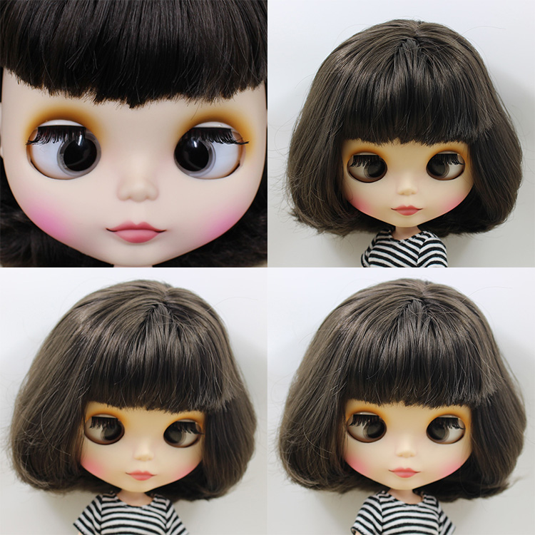 factory blyth doll bjd short black hair with bangs/fringes crosseye crosseyes matte frosted face BL950 1/6 white skin цены