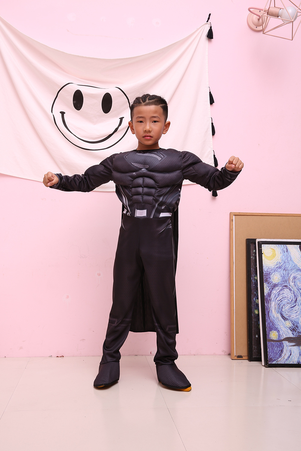 Super Hero Jumpsuit Superman Batman muscle Cosplay Costumes Halloween Gift