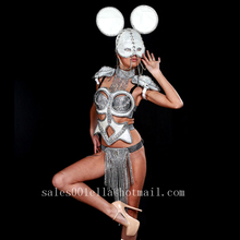 2015 Sexy Lady Carnival Catwalk Shows Evening Dress Bra Suit Women Dance Singer DJ Stage Performance Clothes Ballroom Costume