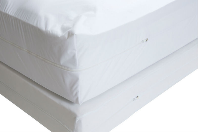 Free Shipping Size 198X183cm Smooth Allerzip Waterproof Mattress Encasement <font><b>Cover</b></font> With Zipper Box Spring For <font><b>Bed</b></font> Bug