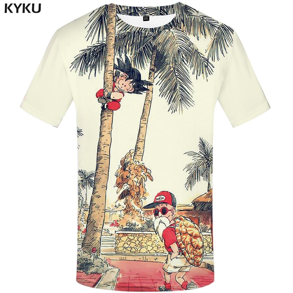 KYKU Marca T-shirt Anime De Dragon Ball Camiseta 3d Camisa Dos Homens T Camisas Engraçadas de T Hip Hop 2017 Dos Homens Japoneses roupas Roupas Vintage