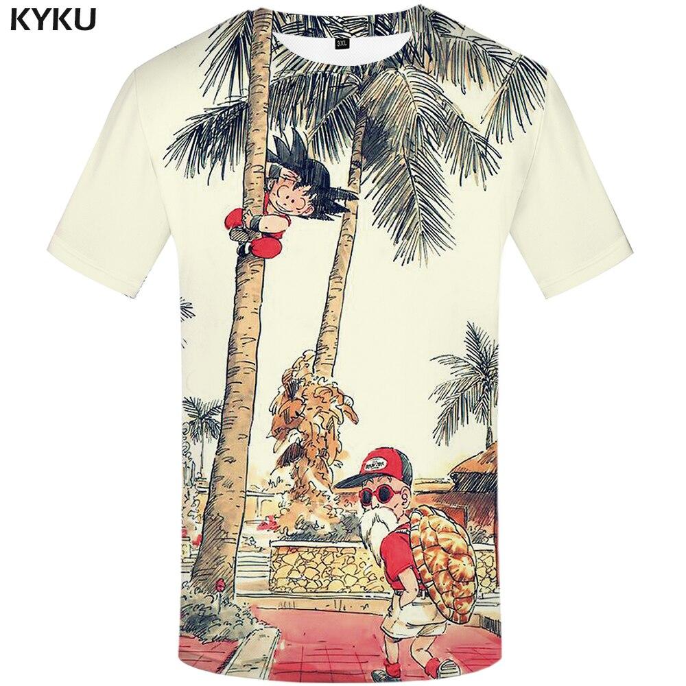 KYKU Marque Dragon Ball T-shirt 3d T-shirt Anime Hommes T chemise Drôle T Shirts Hip Hop 2017 Japonais Mens Vêtements Vintage vêtements