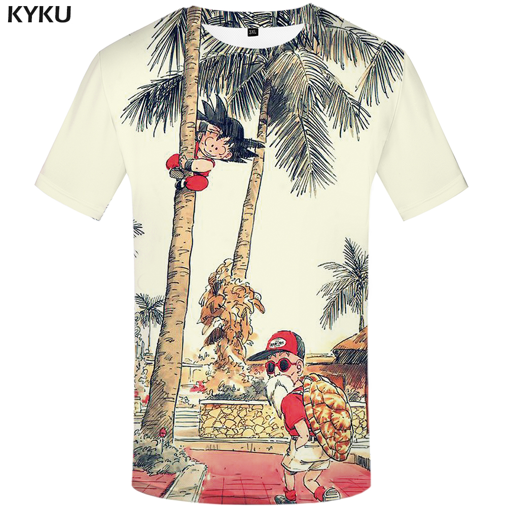KYKU marca Dragon Ball camiseta 3d camiseta Anime hombres camiseta divertida camisetas Hip Hop 2017 ropa japonesa para hombre ropa Vintage